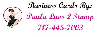 Paula AD Business cards