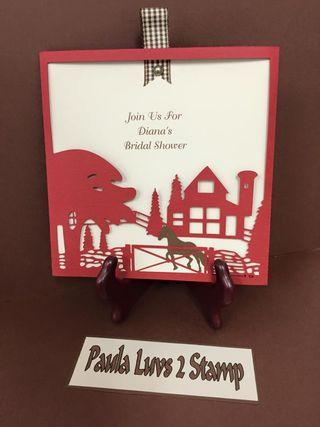 Barn theme card
