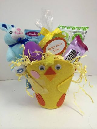 Chicken easter basket