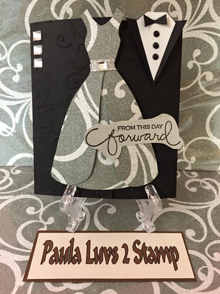 Wedding card black and white