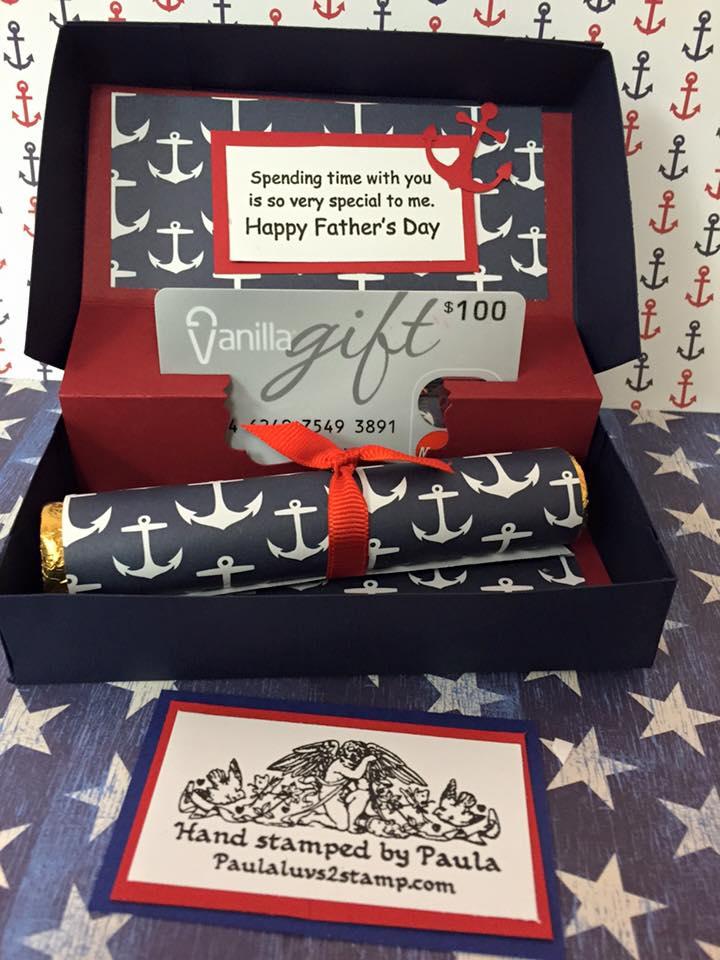 Craft class june gift card holder