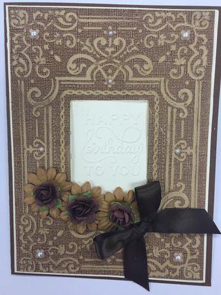 Happy  brithday card class flower