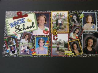 Back to school scrapbook