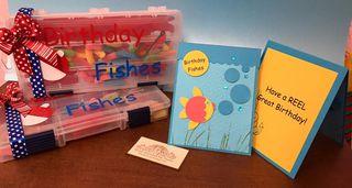 Birthday fishes set