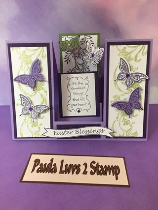 Butterfly step card