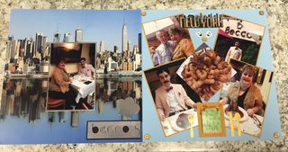 New york layout scrapbook