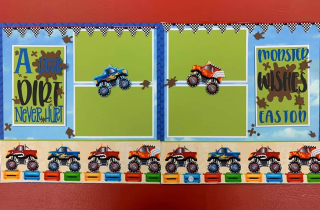 Monster truck layout