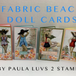 Fabric beach cards
